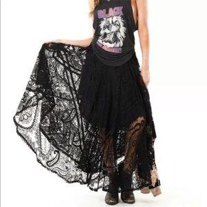 Spell & The Gypsy Rhiannon Black Lace Skirt